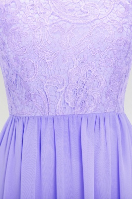 A-line  Lace Jewel Sleeveless Floor-Length Bridesmaid Dress with Ruffles_5