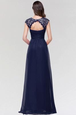 A-line  Lace Jewel Sleeveless Floor-length Bridesmaid Dresses_2