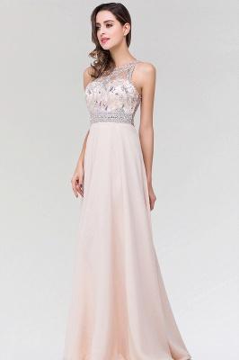 Elegant A-Line   Scoop Sleeveless Floor-Length Bridesmaid Dress with Beadings_4