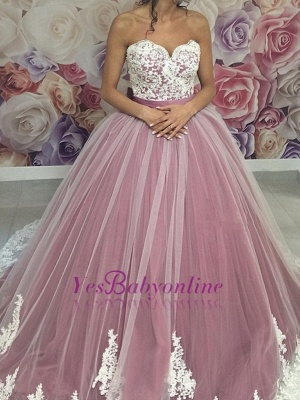 Dresses Ball Prom Sweetheart Sleeveless pink Long Gown Evening Dresses_2
