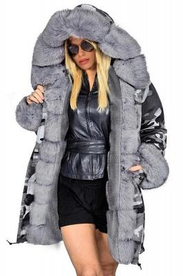 Grey Camo Military Parka Coat with Premium Fur Trim_2