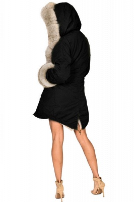 Hunt Camo Military Parka Coat with Premium Brown Fur Trim_6