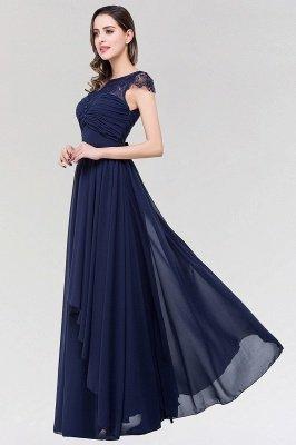 Elegant A-Line  Lace Scoop Sleeveless Ruffles Floor-Length Bridesmaid Dress with beadworks_4
