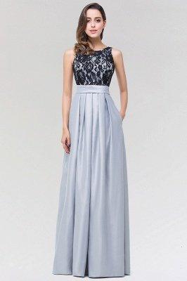 A-line Satin Lace Jewel Sleeveless Floor-length Bridesmaid Dresses with Ruffles_1