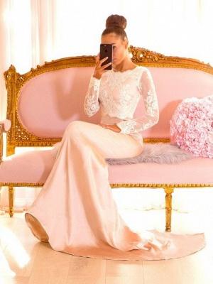 Elegant Long Sleeves Bridesmaid Dresses | Backless Mermaid Wedding Party Dresses_1