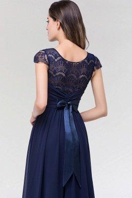 Elegant A-Line  Lace Scoop Sleeveless Ruffles Floor-Length Bridesmaid Dress with beadworks_7