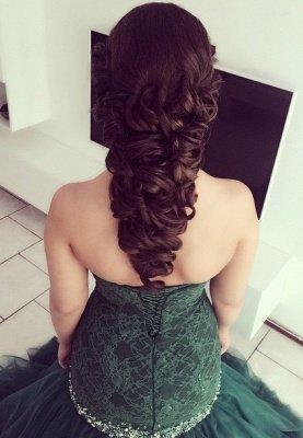 Strapless Mermaid Applique  Sweep Train Sequins Prom Dresses_1