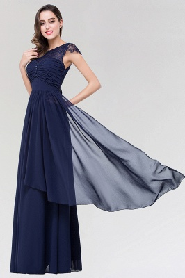 Elegant A-Line  Lace Scoop Sleeveless Ruffles Floor-Length Bridesmaid Dress with beadworks_3