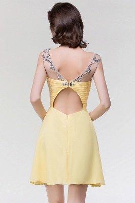 A-Line  Sweetheart Sleeveless Ruffles Mini Bridesmaid Dress with Beading_2