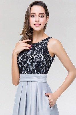 A-line Satin Lace Jewel Sleeveless Floor-length Bridesmaid Dresses with Ruffles_4