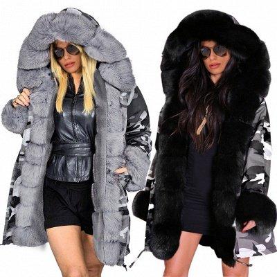 Grey Camo Military Parka Coat with Premium Fur Trim_6