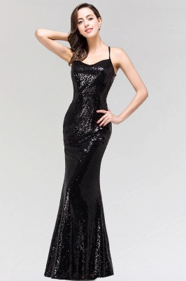 Sexy Mermaid Sequined Spaghetti Straps Backless Floor-Length Bridesmaid Dress_4