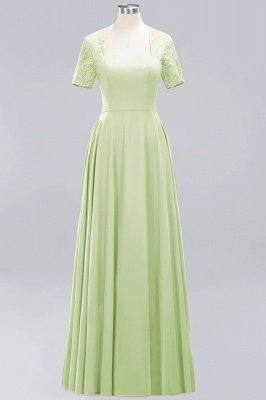 A-Line Chiffon Bridesmaid Dresses | Sweetheart Cap Sleeves Lace Wedding Party Dresses_24