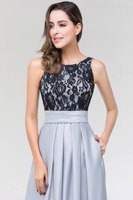 A-line Satin Lace Jewel Sleeveless Floor-length Bridesmaid Dresses with Ruffles_5