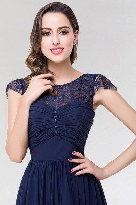 Elegant A-Line  Lace Scoop Sleeveless Ruffles Floor-Length Bridesmaid Dress with beadworks_5