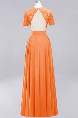 A-Line Chiffon Bridesmaid Dresses | Sweetheart Cap Sleeves Lace Wedding Party Dresses_10