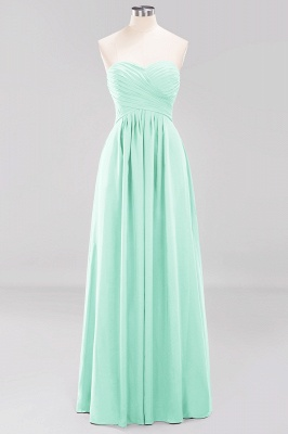 A-line  Sweetheart Strapless Ruffles Floor-length Bridesmaid Dress_34