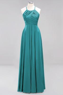 A-Line  Halter Ruffles Floor-Length Bridesmaid Dress_31