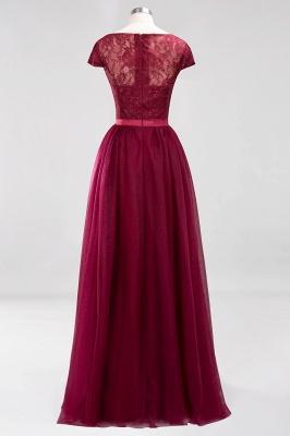 A-Line  Jewel Sleeveless Floor-Length Bridesmaid Dresses with Ruffles_2