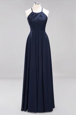 A-Line  Halter Ruffles Floor-Length Bridesmaid Dress_27