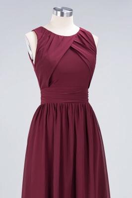 A-Line Round-Neck Sleeveless Floor-Length  Bridesmaid Dress with Ruffles_5