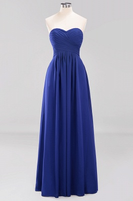 A-line  Sweetheart Strapless Ruffles Floor-length Bridesmaid Dress_25