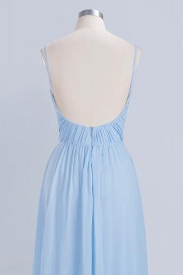 A-Line  V-Neck Spaghetti Straps Floor-Length Bridesmaid Dresses_6