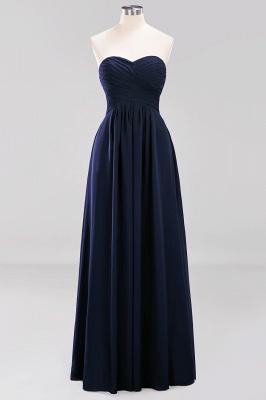 A-line  Sweetheart Strapless Ruffles Floor-length Bridesmaid Dress_27