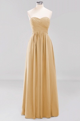 A-line  Sweetheart Strapless Ruffles Floor-length Bridesmaid Dress_13