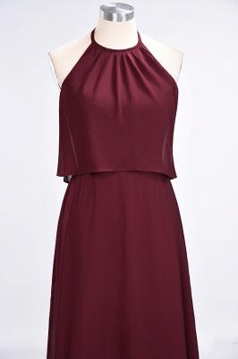 A-Line Jewel Sleeveless Floor-Length  Bridesmaid Dress_5