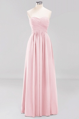 A-line  Sweetheart Strapless Ruffles Floor-length Bridesmaid Dress_3