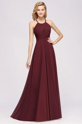 A-Line  Halter Ruffles Floor-Length Bridesmaid Dress_35