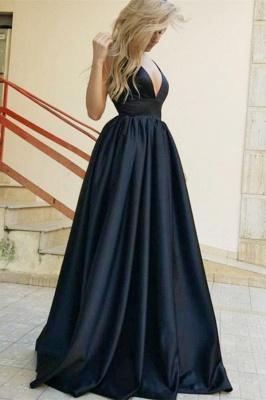 Stylish Straps Sleeveless Deep V-Neck A-Line Prom Dress_1