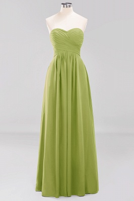 A-line  Sweetheart Strapless Ruffles Floor-length Bridesmaid Dress_32