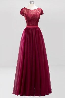 A-Line  Jewel Sleeveless Floor-Length Bridesmaid Dresses with Ruffles_1