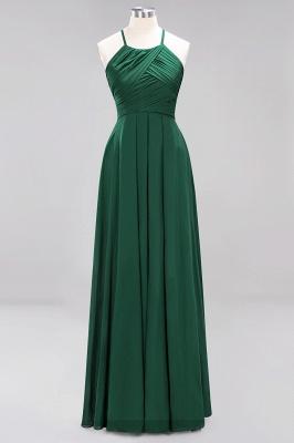 A-Line  Halter Ruffles Floor-Length Bridesmaid Dress_30