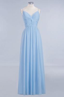 A-Line  V-Neck Spaghetti Straps Floor-Length Bridesmaid Dresses_1