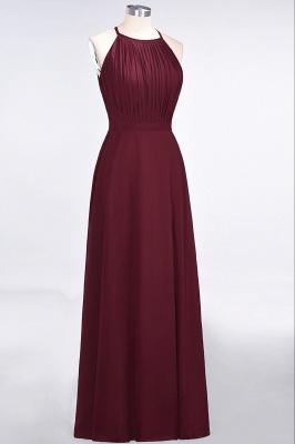 A-Line Jewel Sleeveless Floor-Length  Bridesmaid Dress with Ruffles_3