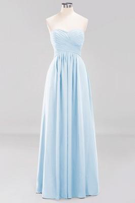 A-line  Sweetheart Strapless Ruffles Floor-length Bridesmaid Dress_22