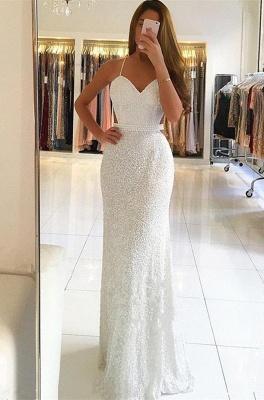 Elegant Spaghetti Straps Sleeveless A-Line Floor-Length Prom Dress_1
