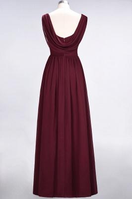 A-Line Straps V-Neck Sleeveless Floor-Length  Bridesmaid Dress with Ruffles_2