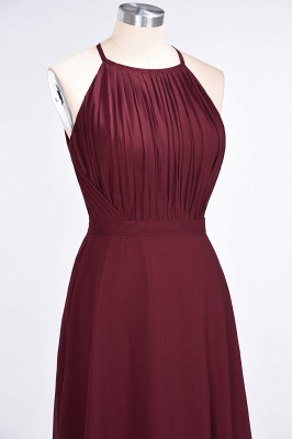 A-Line Jewel Sleeveless Floor-Length  Bridesmaid Dress with Ruffles_5