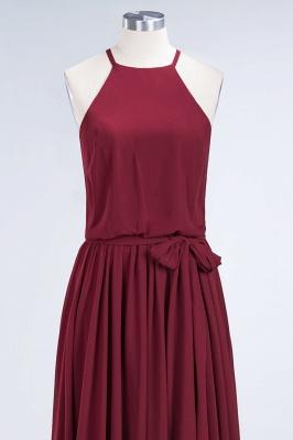 Chiffon A-Line Burgundy Simple Cheap Bridesmaid Dress_6