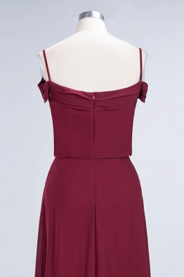 Long Off-the-Shoulder Elegant Burgundy A-Line Bridesmaid Dress_7