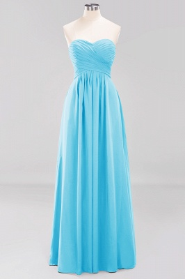 A-line  Sweetheart Strapless Ruffles Floor-length Bridesmaid Dress_23