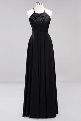 A-Line  Halter Ruffles Floor-Length Bridesmaid Dress_28