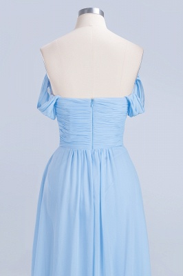 A-Line Straps Sweetheart Sleeveless Floor-Length  Bridesmaid Dress with Ruffles_6