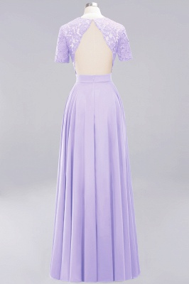 A-Line Chiffon Bridesmaid Dresses | Sweetheart Cap Sleeves Lace Wedding Party Dresses_14