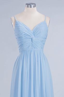 A-Line  V-Neck Spaghetti Straps Floor-Length Bridesmaid Dresses_4