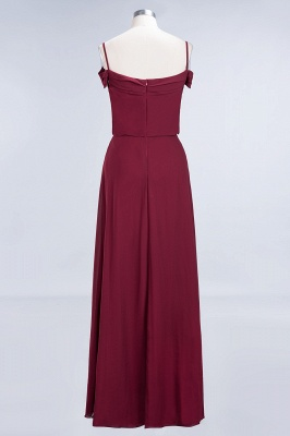 Long Off-the-Shoulder Elegant Burgundy A-Line Bridesmaid Dress_3